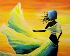 Woman in the Wind at The Cheesecake Cafe Spruce Grove - Paint Nite Events