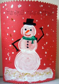 Snowman Card  Christmas Crafts