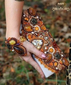 """сумочка-клатч """"Янтарная"""" - рыжий,орнамент,янтарный цвет,янтарь натуральный"""