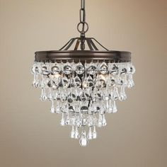 Clarissa crystal drop small round chandelier in 2018 - Small bathroom chandelier crystal ...