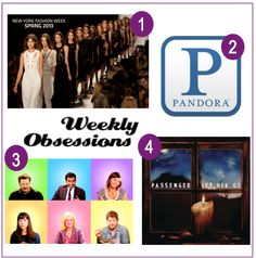 "Week 84: New York (Mercedes-Benz Fashion Week"", Pandora Radio, The ""Parks and Recreation Cast"", Passenger – ""Let Her Go"""