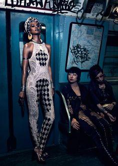 """The Vanishing Underground"" : Liya Kebede : Vogue Japan April 2013 : Mikael Jansson"