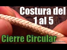 """Costura del 1 al 5 """"Cierre Circular"""" """"El Rincón del Soguero"""" Leather Art, Leather Tooling, Bracelet Fil, Leather Tutorial, Paracord Knots, Macrame Knots, Leather Projects, Bookbinding, Crafts To Do"""