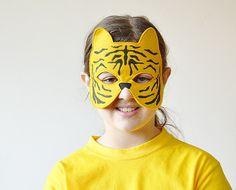 Tiger Children Mask Kids Carnival Mask Halloween by BHBKidstyle