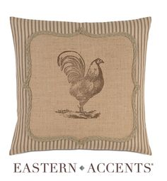 Eastern Accents,,,, ohhh rooster pillow, i can do this one... hahah
