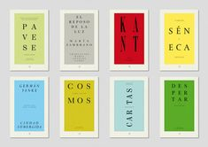 Minimal, type-based covers by Spain-based Astrid Stavro Studio for a Sol de Ícaro essay collection