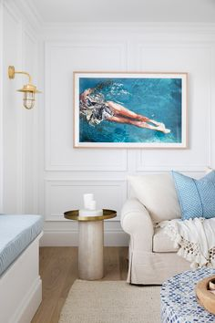 This week from Three Birds Renovation's House Reece Bathrooms recaps the formal lounge room and powder room. Hampton Artwork, Three Birds Renovations, Style Lounge, Hawaii Homes, Architrave, Fabric Armchairs, Cool Rooms, House Rooms, The Hamptons