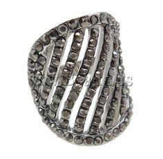 Zinc Alloy #Finger #Ring , plated, with #rhinestone  http://www.beads.us/product/Zinc-Alloy-Finger-Ring_p41455.html?Utm_rid=219754