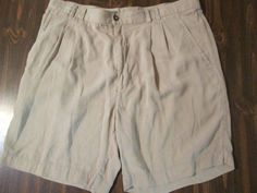 Mens Khaki 100% Silk Golf , Walking , Casual Shorts Size 38 #Axist #CasualShorts