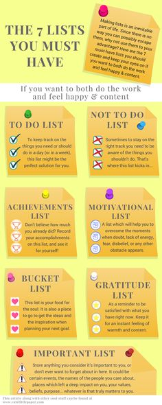 The 7 Lists You Must Have If You Want To Both Do The Work And Feel Happy & Content - plus a FREE editable pdf -www.cutelittlepaper.com-