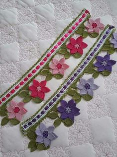 Newest Towel Edge Crochet Needlework Models Moda Emo, Diy Crafts Jewelry, Crochet Borders, Floral Tie, Needlework, Quilts, Stitch, Blanket, Create