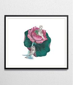 Thumbelina Archival watercolor print by ArtistWatercolor on Etsy, $30.00