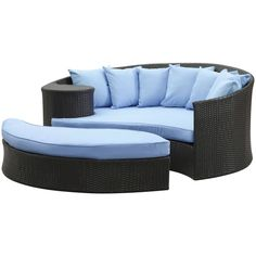 Modway Furniture Modway Taiji Daybed, Espresso Light Blue ($1,348) ❤ liked on Polyvore featuring home, outdoors, patio furniture, outdoor loungers & day beds, outdoor, outdoor patio furniture, outside patio furniture, outside day bed, all weather outdoor furniture and outdoor daybed