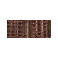 Pinstripe Copper 2.5'x6' Rug Runner | Crate and Barrel