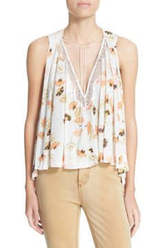 Free People 'Love Potion' Floral Print Sleeveless Knit Top