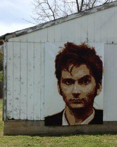 St. Louis Folk Victorian//Kristy Daum// Pixel Quilt - THE TENTH - David Tennant - Doctor Who