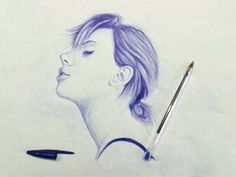 Portrait of Scarlet Johansson by Giovanna Caggese