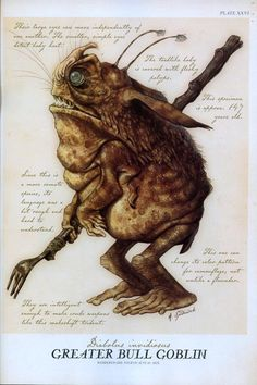Greater Bull Goblin, by Tony DiTerlizzi (From Arthur Spiderwick's Field Guide)