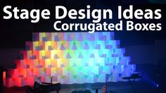 Church Stage Design Ideas : Corrugated Boxes - how to for a very effective and economical set design