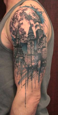 Modern tattoo abstract sleeve | Best Tattoo design Ideas