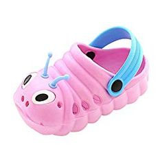 Baby Sandals Kids Summer Cute Cartoon Shoes Caterpillar Non-Slip Beach Slipper Shoes-Jewelry Shoes-Jewelry Shoes-Jewelry Slipper Sandals, Baby Sandals, Kids Sandals, Women Sandals, Shoes Sandals, Flip Shoes, Crocs Shoes, Shower Slippers, Cartoon Shoes