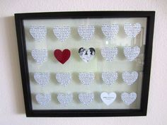 DIY wedding song lyrics picture frame