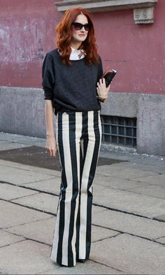 Love these stripe trousers