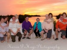 a lovely family and a lovely sunset.