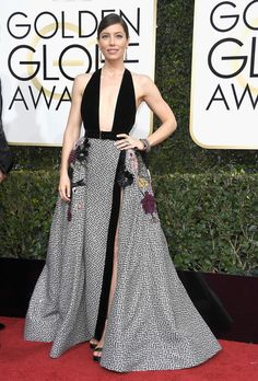 Jessica Biel in Elie Saab - Every Best Dressed Look from the 2017 Golden Globes - Photos