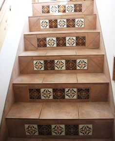 Want for my stairs in front, this is a nice look and way to minimize cost if Talavera ...
