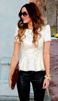 peplum top from Esther Boutique