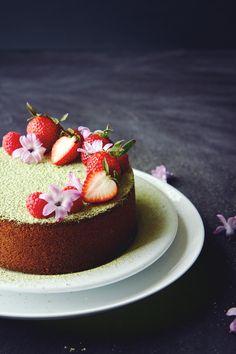 Matcha Butter Cake   La Pêche Fraîche