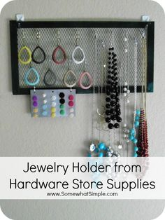 How to Make A Jewelry Holder for less than $10- a super simple and affordable project you can finish in an hour or less!
