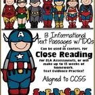 Updated 1-1-13  This 110 Page Unit Contains: 13 Passages for Close Reading, Homework, Assessments, Guided Reading or anything you want. 100% Aligne...