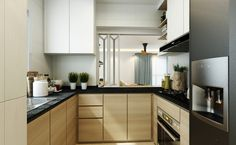 ♥️ Alternative for a more open kitchen. Windows can be closed when cooking needs to be done.
