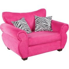 Kenzie has a mini couch.. I could cover it with a hot pink duvet and get the zebra accent pillows