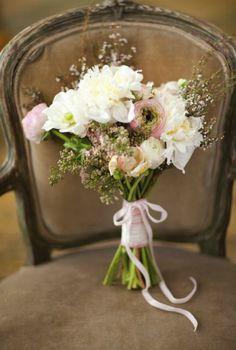 Rustic Cream and Blush Bouquet