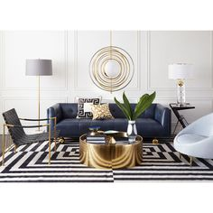 41 Why Everybody Is Wrong About Black White Gold Living Room Decor Couch And Why You Should View This 97 Glam Living Room, Living Room Modern, Interior Design Living Room, Living Room Designs, Black And Gold Living Room, Gold Living Rooms, Top Interior Designers, Small Living, Living Area