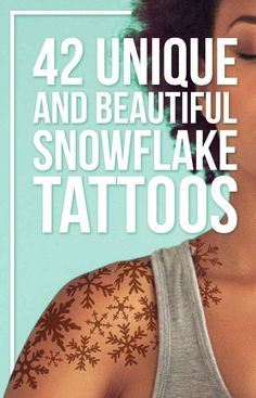 42 Unique And Beautiful Snowflake Tattoos