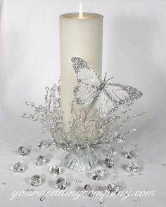 Reception: Table decorations. Butterfly's and Pearls;)