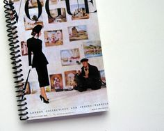 Notebook Spiral Bound Fashion and Art in London 4 x 6 by Ciaffi, $12.50