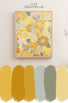 Add some joy to your office or home with this outlined yellow florals art print! Hang it in your favorite spot to enjoy everyday and for years to come! It brightens and personalizes the room as it brings you joy every time you walk in! Yellow Art, Yellow Painting, Small Canvas Art, Art Projects, Physics Projects, Guache, Acrylic Art Paintings, Canvas Board Painting, Marker Art