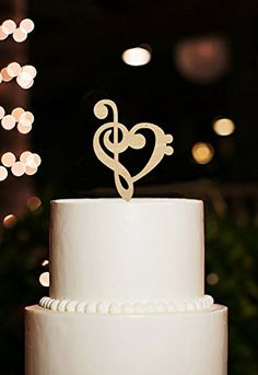 Music Note Cake Toppers Rustic Cake Topper for Wedding Party Cake Decorations Kaishihui http://www.amazon.com/dp/B01AW4CA2O/ref=cm_sw_r_pi_dp_69X6wb1TSS444