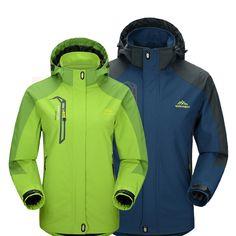 2016 Hommes et Femmes Softshell Vestes Imperméables de Sport En Plein Air Marque Vêtements Camping Trekking Randonnée Mâle et Femelle Ski Veste MA005