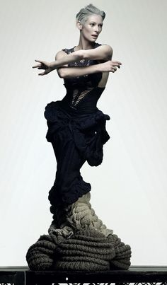 Tilda Swinton wearing Sandra Backlund original Dark #Goth piece