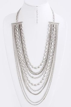 MULTI CHAIN LAYERED NECKLACE SET