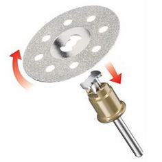 DREMEL® EZ SpeedClic: Diamond Cutting Wheel. (SC545)For example concrete, stone, porcelain, ceramic and hard epoxies. The diamond wheel produces a fine cut, is extremely durable, does not break and retains it shape.