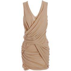 Burberry Prorsum Knit dress with knot waist (3,010 CAD) ❤ liked on Polyvore featuring dresses, vestidos, платья, vestiti, burberry prorsum, oversized dress, v neck dress, sleeveless dress, summer wrap dresses and summer dresses
