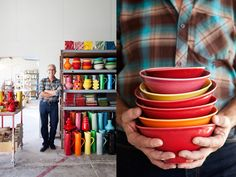 Steiner Ceramics Love thebirght, bold colors and the simple design. The edges are nice also
