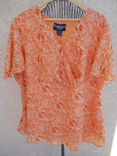 Russell Kemp Woman 2X 3X Top Blouse Flaming Orange http://www.ebay.com/usr/prettywoman-2012